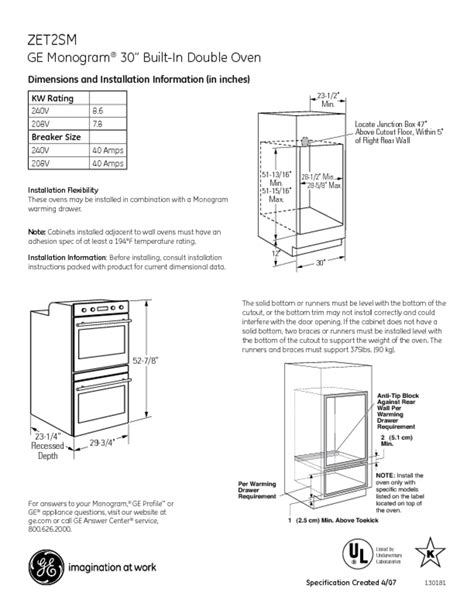 double oven users guides double oven page