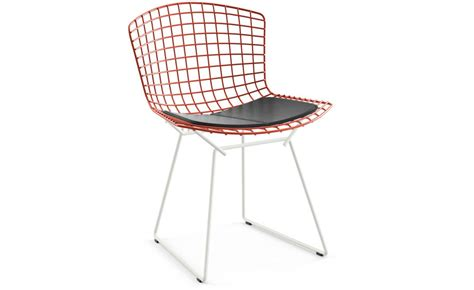 bertoia two tone side chair with seat cushion hivemodern