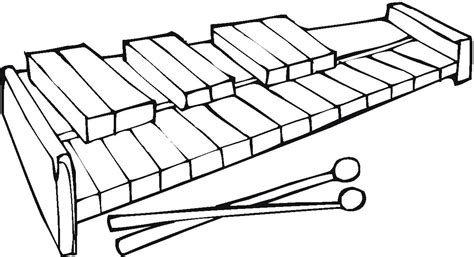 Coloring Xylophone by Xylophone Coloring Page Clipart Best