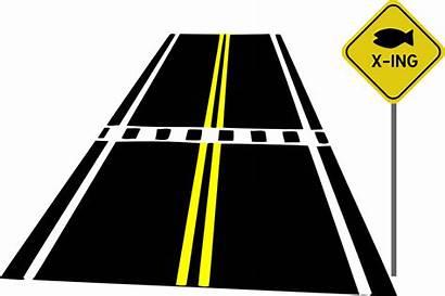 Road Clip Clipart Crossing Roadmap Crosswalk Vector