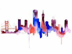 san francisco skyline silhouette vinyls vinyl wall art With kitchen cabinets lowes with san francisco skyline wall art