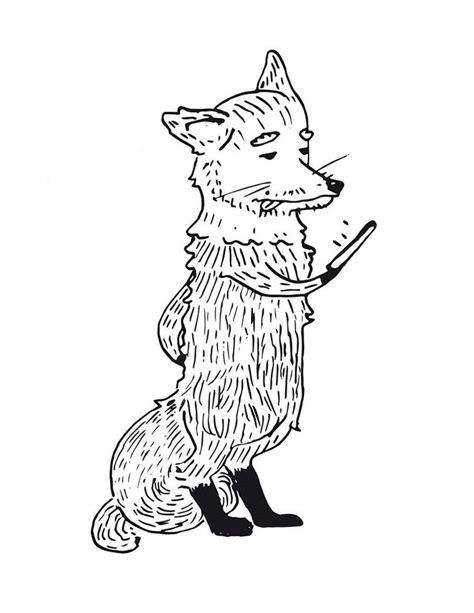 dibujo zorro animal drawing ilustracion pinterest