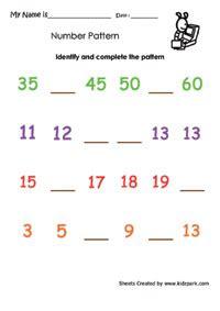 simple pattern worksheet  grade  ordinal numbers