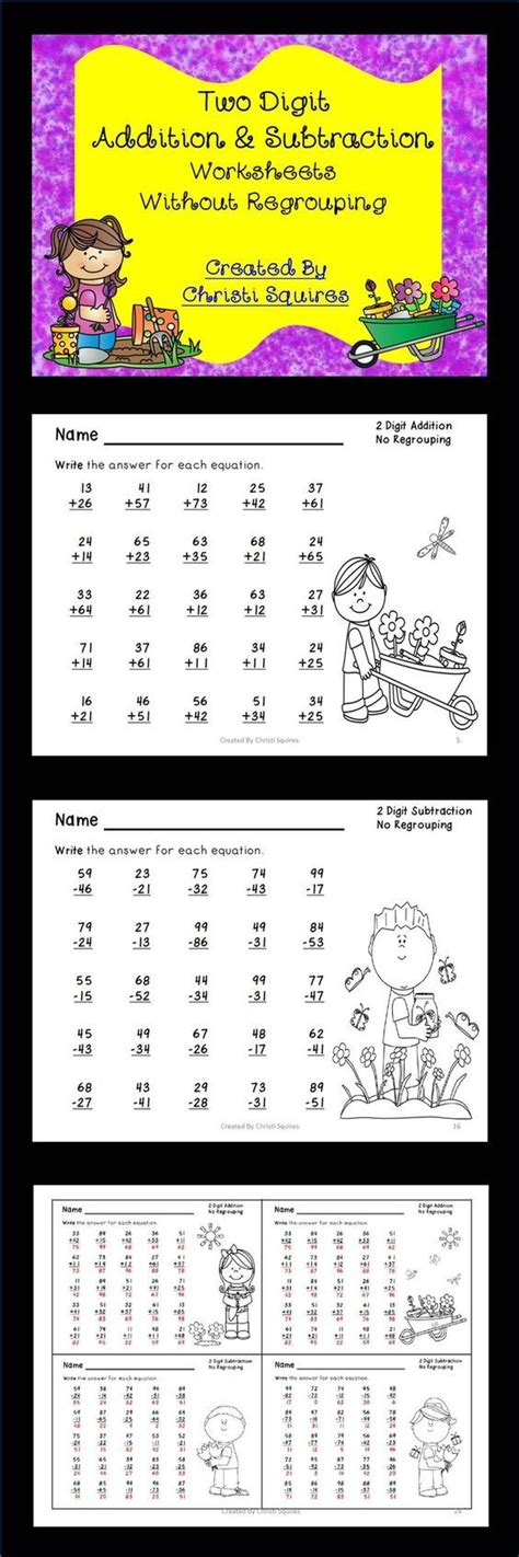 Two Digit Addition & Subtraction Worksheets Without Regrouping  Subtraction Worksheets