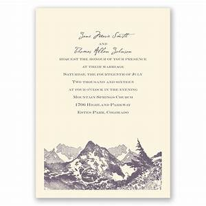 watercolor mountain invitation invitations by dawn With wedding invitations with mountains
