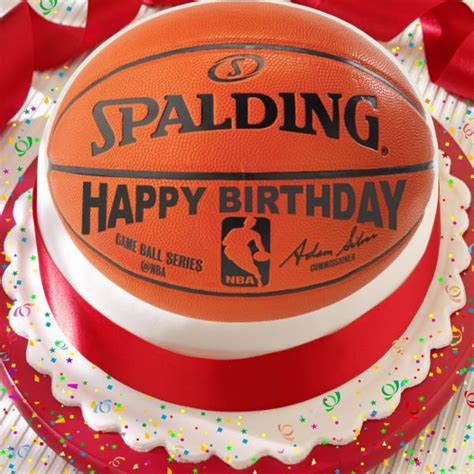 basketball happy birthday   precut edible cake