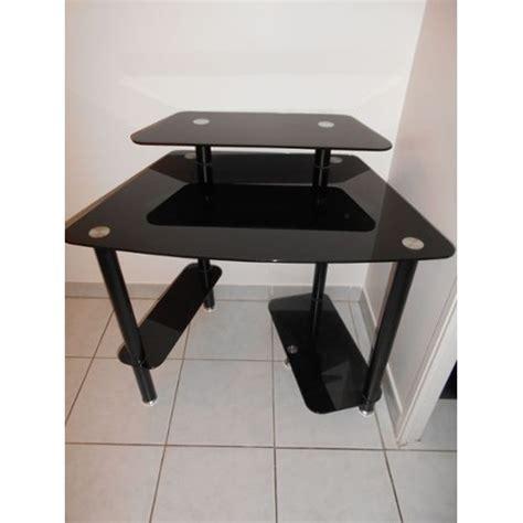 bureau verre noir bureau turbo en verre trempe noir achat et vente
