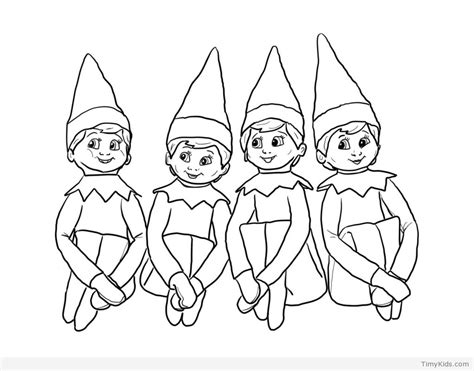 20 Elf On The Shelf Coloring Pages For Kids Timykids