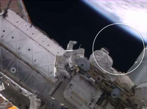 'UFO' appears to watch NASA astronauts on ISS spacewalk ...