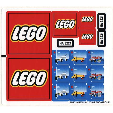 Lego Sticker Sheet For Set 3221 (90501) Comes In Brick