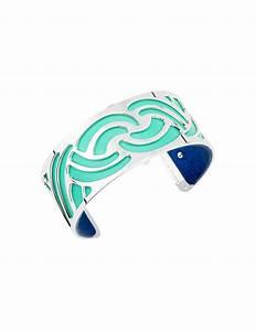 Bleu Vert D Eau : manchette nouage argent e vert d 39 eau bleu sir ne ~ Preciouscoupons.com Idées de Décoration