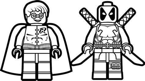 lego deadpool coloring pages cartoon deadpool coloring