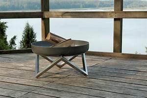 svenskav design feuerschale z terrassenfeuer feuerstelle With feuerstelle garten mit geländer edelstahl balkon