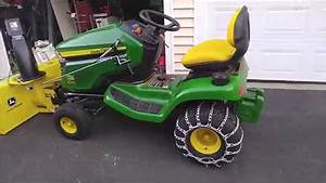 John Deere X310 Changed Over To Snowthrower