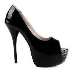 black wedding shoes high heel peep toe platform black wedding bridal shoes 2012 flowerweddingshoes