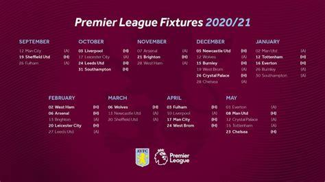 Fixtures !!!!!! - The Religion - Aston Villa F.C | Facebook