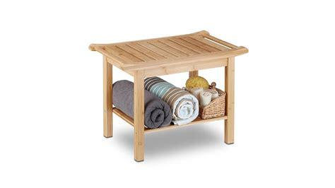 Badezimmer Bank Aus Bambus Holz Mit Ablage Kaufen