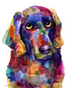 Colorful Watercolor Paintings Dogs
