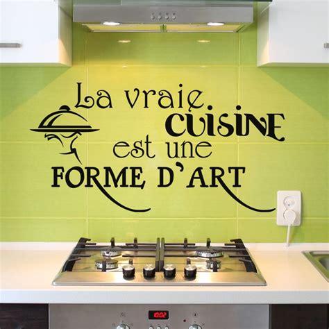 stickers pour cuisine pas cher sticker la vraie cuisine est une forme d 39 pas cher