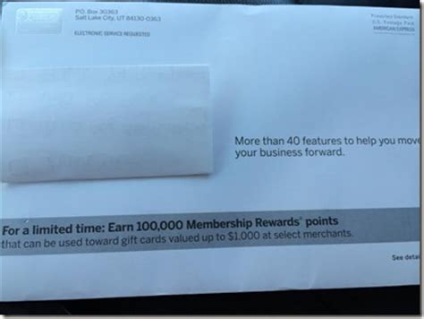 amazing  bonus point offer   business platinum american express card targeted