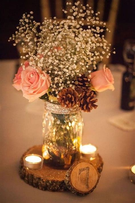 glass pillar candlestick 25 best rustic vintage wedding centerpieces ideas for