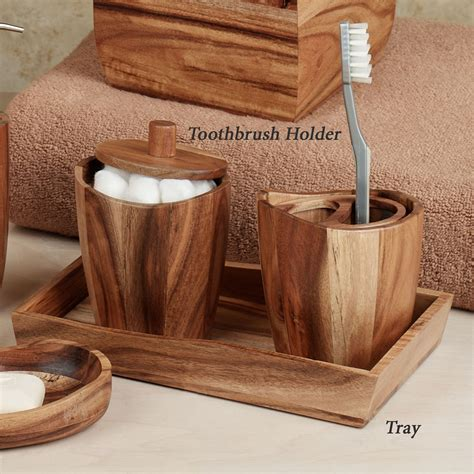 Accessoires Holz by Acacia Handcrafted Wood Bath Accessories