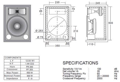 Speaker Cabinet Design Software Free by Ciare 12 00 W1 12 500 Watt 8ohm Pa Speaker
