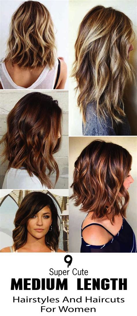 9 super cute medium length hairstyles and haircuts for
