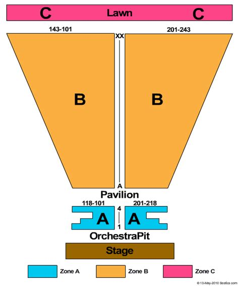meadow brook amphitheatre seating chart meadow brook