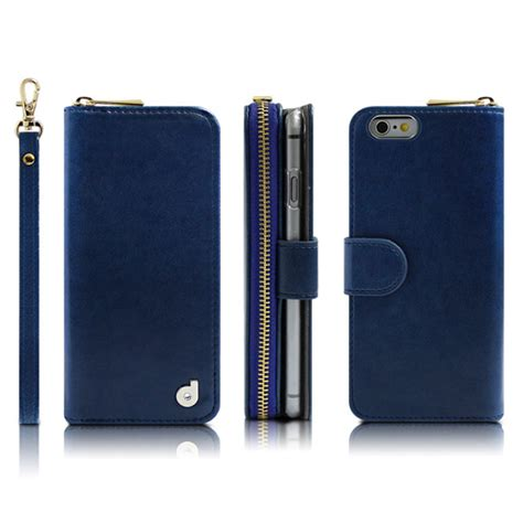 iphone 6 plus wallets drelus zip up wallet for iphone 6 6s plus zoarah