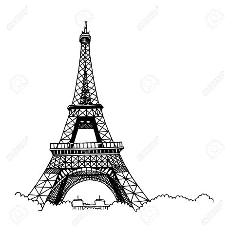 eiffel tower drawing easy    clipartmag