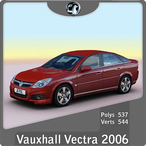 2006 Vauxhall Opel Vectra 3d Model