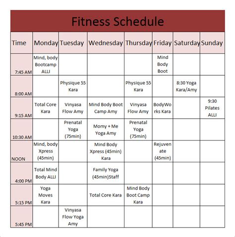 workout plan template pdf daily workout calendar 2018 template excel word pdf calendarbuzz