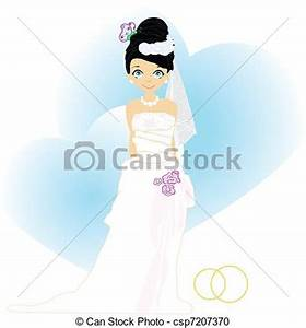 Vector Clipart of Elegant bride in Blue.Illustration ...