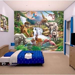 Fresque Murale Papier Peint : papier peint enfant fresque murale d corative jungle papier peint achat vente stickers ~ Melissatoandfro.com Idées de Décoration