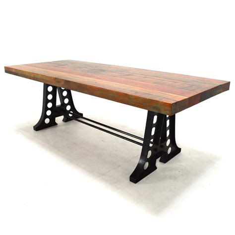 "Columbus 91"" Rectangular Dining Table, Reclaimed Wood"