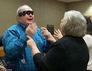 Blind man sees wife for the first time in ten years after