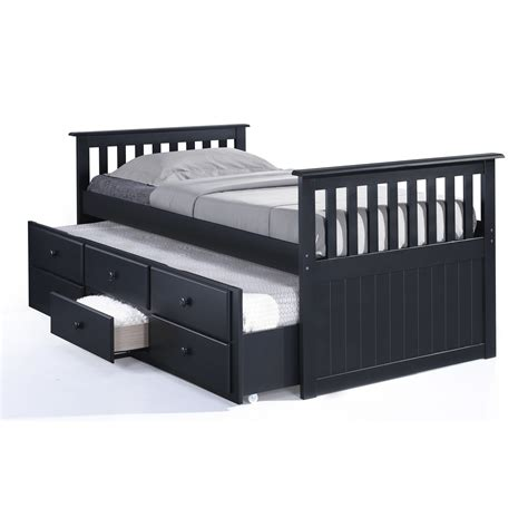 captain bed with trundle broyhill marco island captain s bed with trundle bed