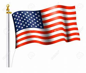 America clipart american flag pole - Pencil and in color ...