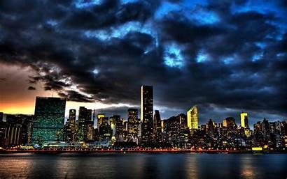 Skyline Night Desktop Background Wallpapersafari