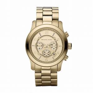 Michael Kors Mens Watch in Gold for Men | Lyst