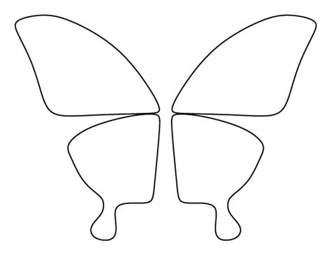 printable butterfly wings template