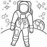 Space Coloring Astronaut Preschool Astronauts Theme Classroom Books sketch template
