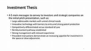 Life Science Company Presentation Guide March 2018