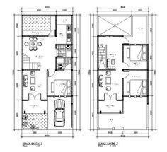 denah rumah minimalis  lantai type  denah rumah
