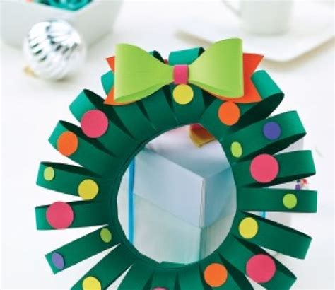 Christmas Template Craft by Simple Christmas Papercraft Wreath Template Free Card