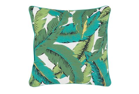 Large Accent Pillows by Outdoor Accent Pillow Banana Leaf 20x20 Living Spaces