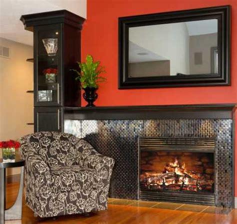 flat screen tv  fireplace designs  hide