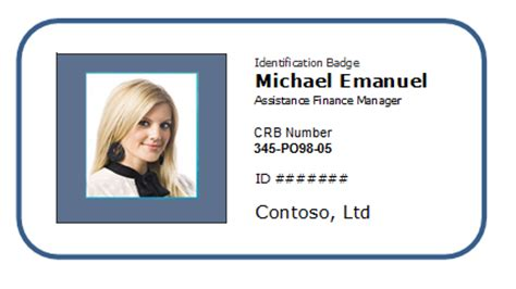 employee photo id badge sample template excel templates