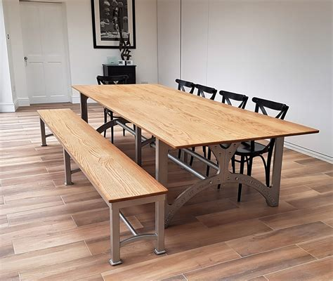 Of Table by Industrial Based Dining Tables From Recycled Steel And